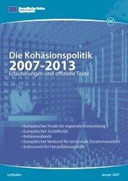 Kohäsionspolitik 2007-2013 - Europa
