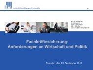 Anforderungen an Wirtschaft und Politik - ESF Hessen