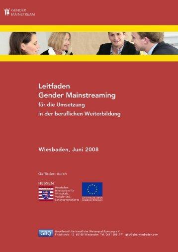 Leitfaden Gender Mainstreaming für die Umsetzung ... - ESF Hessen