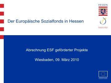 Ausgabenerklärung - ESF Hessen