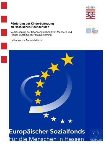 2009-09 GM Leitfaden Kinderbetreuung Hochschulen - ESF Hessen