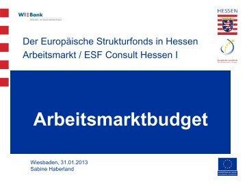 Handout Arbeitsmarktbudget - ESF Hessen