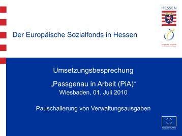 Pauschalierung von Verwaltungsausgaben im ... - ESF Hessen
