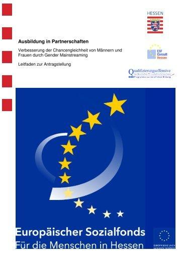 2009-09 GM Leitfaden Ausbildung in Partnerschaften - ESF Hessen
