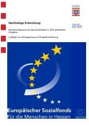 Nachhaltige Entwicklung - ESF Hessen