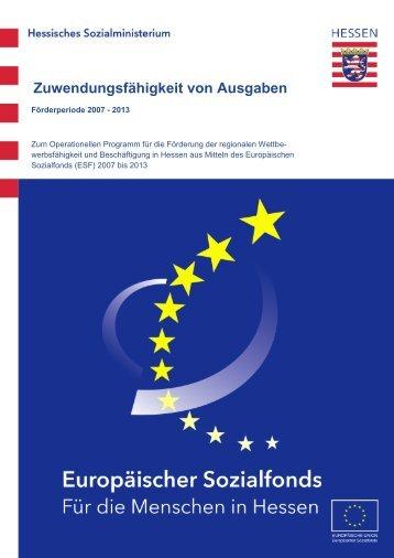 Zuwendungsfähigkeit von Ausgaben - ESF Hessen