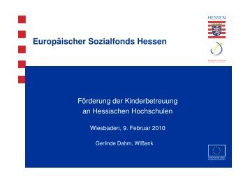 2010 Präsentation ESF Consult Hessen - ESF Hessen