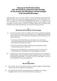 Satzung der Stadt Aschersleben über die Erhebung wiederkehrender