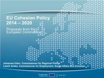 EU Cohesion Policy 2014 - 2020 - European Commission - Europa