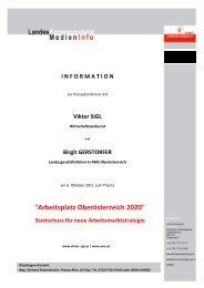 Arbeitsplatz Oberösterreich 2020 - ESF