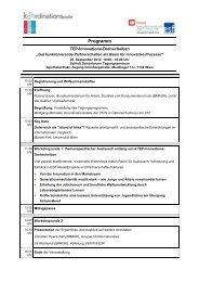 Programm draft - ESF