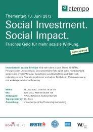 Thementag 13. Juni 2013 Frisches Geld für mehr soziale ... - ESF