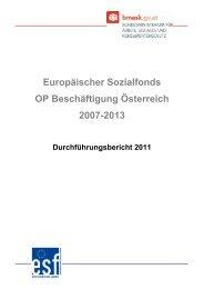 Europäischer Sozialfonds, OP Beschäftigung Österreich 2007 ... - ESF