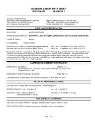 material safety data sheet msds h-137 revision 1 - CleanEasier