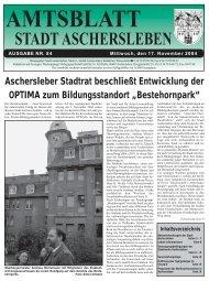 6. Vorlage IV/0073/04 - Stellung- nahme der Stadt Aschersleben zur