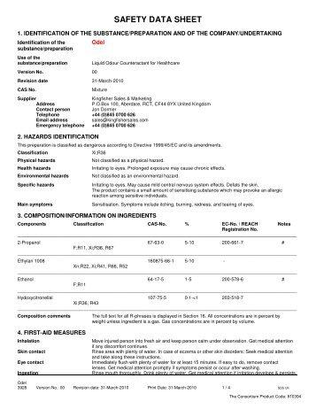 Safety Data Sheet Evo Stik Wood Adhesive Interior The
