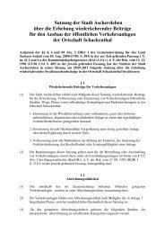 Satzung der Stadt Aschersleben über die Erhebung ...