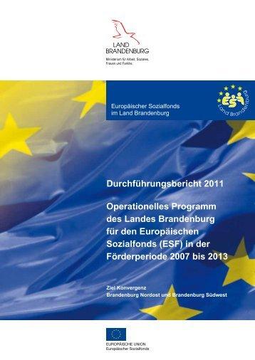 Durchführungsbericht für den ESF 2011 - ESF in Brandenburg ...