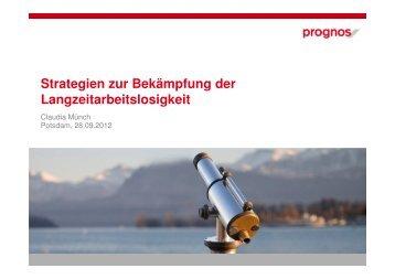 Strategien zur Bekämpfung der Langzeitarbeitslosigkeit - ESF in ...