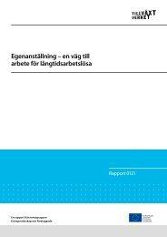 Egenanställning - Svenska ESF-rådet