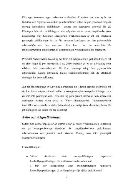 Examensarbete Sven Marklund.pdf - Svenska ESF-rådet
