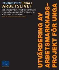Utvärdering av arbetsmarknadsprojekt för unga - Svenska ESF-rådet