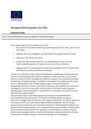 Slutrapport KomAn-projektet, mars 2013. - Svenska ESF-rådet