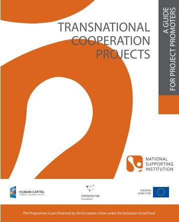 how to promote a transnational cooperation project?