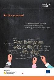 Att lära av mirakel - Svenska ESF-rådet