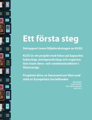 Delrapport följeforskning KLEO april 2012.pdf - Svenska ESF-rådet
