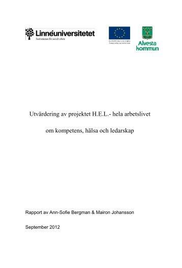 Slutversion Hela arbetslivet 28 sept 2012.pdf - Svenska ESF-rådet