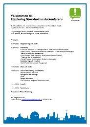Se inbjudan i pdf. - Svenska ESF-rådet