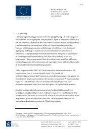 Plan för uppföljning och utvärdering - Svenska ESF-rådet