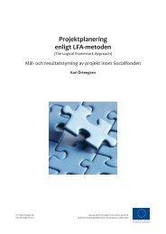 Projektplanering enligt LFA-metoden - Svenska ESF-rådet