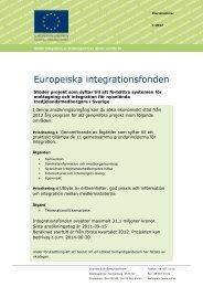 Europeiska integrationsfonden - Svenska ESF-rådet