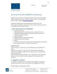 Anvisning till blankett: ANSÖKAN om utbetalning - Svenska ESF-rådet