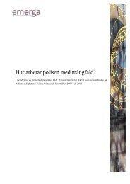 Utvärdering Polisen Integrerar Aktivt.pdf - Svenska ESF-rådet