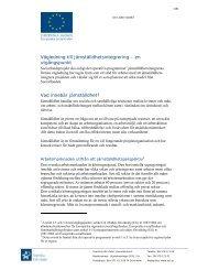 Vägledning till jämställdhetsintegrering - Svenska ESF-rådet
