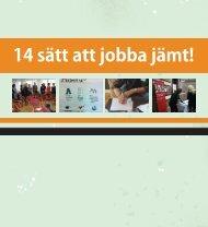 14 sätt att jobba jämt! - Svenska ESF-rådet