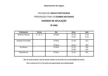 Oficinas de Língua Portuguesa - 9º ano