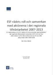 Läs rapporten här - Svenska ESF-rådet