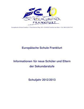 Information f cherwahl s6 s7 de europ ische schule for Mode und bekleidung schule frankfurt