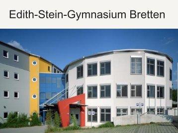 Präsentation des ESG als Ganztagesbetrieb - Edith-Stein-Gymnasium