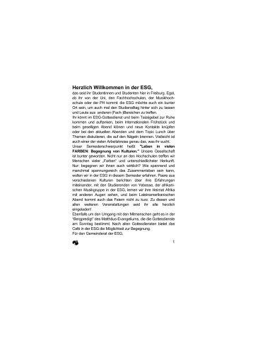 Sommersemester 2000 als PDF - Freiburg - ESG