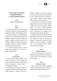 CARTA DE DIREITOS E DEVERES DA COMUNIDADE ...