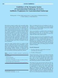 Antibiotic Prophylaxis for Gastrointestinal Endoscop - ESGE