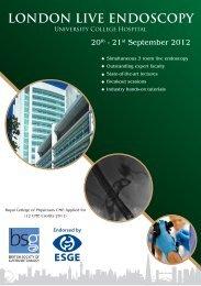 London Live Endoscopy, 2012 - ESGE
