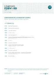 Lisbon Endoscopy - III Endoscopy Course, Programme - ESGE