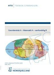 Geovidenskab A – Matematik A – samfundsfag B - Erhvervsskolen ...