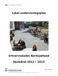 Undervisningsplan 2012/2013 - Erhvervsskolen Nordsjælland